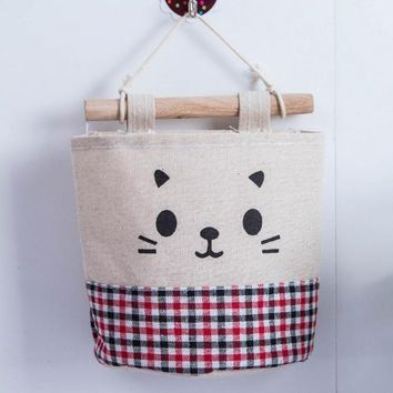 Organizers / Bags - Free Shipping - Cotton / Linen Wall Storage Bag / Organizer - Red