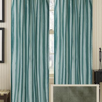 Classic Silk Curtain Panel - Draperies & Tiebacks - Window Treatments - Linens & Fabrics | HomeDecorators.com