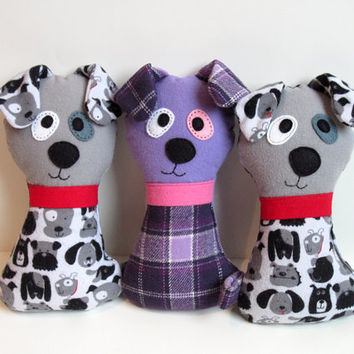 Dog Pattern - Scruffy the Stuffed Doggie PDF Sewing Pattern - Soft Dog Toy for Babies Toddlers Child-Safe Puppy Wolf Instant Download