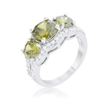 Olive Classic Trio Ring, size : 06