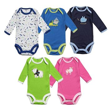 Unisex Baby Rompers Spring Baby Girl Clothes Newborn Baby Clothes Long Sleeve Infant Baby Boy Jumpsuits