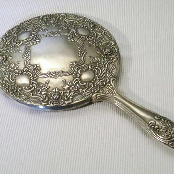 Hand Held Mirror International Silver Co Silverplate
