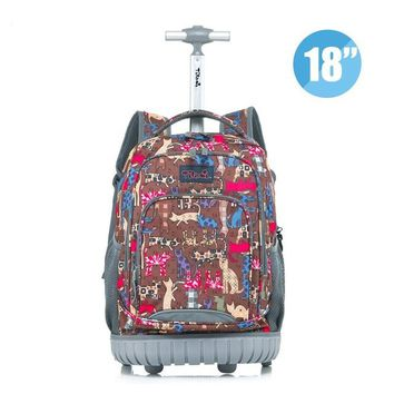 Boys bookbag trendy MSMO Rolling Backpack Children Trolley School Bags Laptop 18 Inch Multifunction Wheeled  Travel Bag for Kids and Students AT_51_3