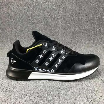 Adidas x LV Louis Vuitton Fashion Trending Leisure Running Sports Shoes Black White I-CSXY