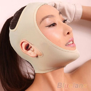 Wrinkle V Face Chin Cheek Lift Up Slimming Slim Mask Ultra-thin Belt Strap Band = 5987861953