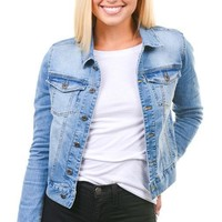 Light Button Down Denim Jacket
