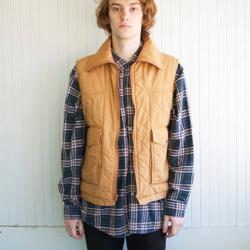 Tan Flannel Lined Hunting Vest