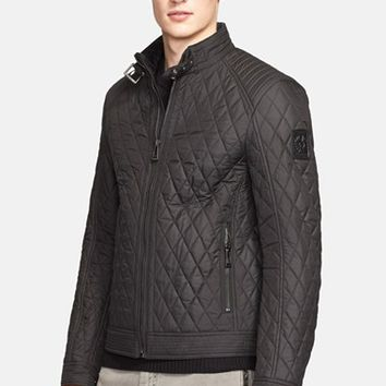 Men's Belstaff 'Bramley' Water Resistant Quilted Moto Jacket,