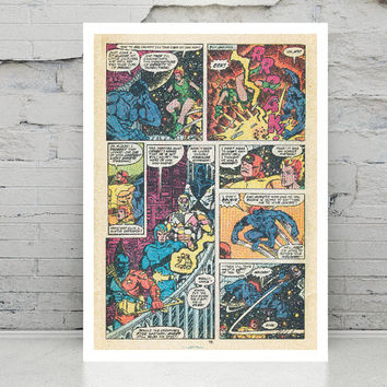 Comic art Marvel Avengers Action Heroes Printable Poster Wall art Wall decor Printable art Digital poster print INSTANT DOWNLOAD.