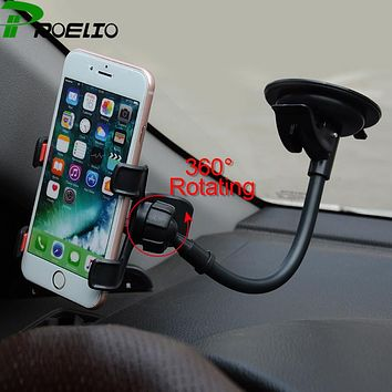 Universal Long Arm Car Windshield Dashboard Holder Sucker Cup Car Phone Holder Stand For iPhone 7 6s 6 plus Samsung Xiaomi GPS