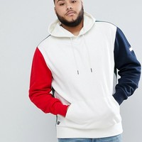 Tommy Hilfiger PLUS Rock Icon Color Block Hoodie Sweatshirt in White at asos.com