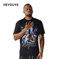 hip hop printed t shirt men funny oversized men t-shirts high quality men clothing movie