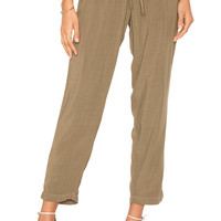 Michael Stars Tapered Pant in Olive Moss