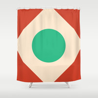 Red Peak Shower Curtain by spaceandlines
