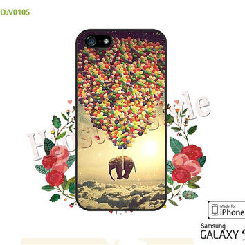 Phone case iPhone 5/5S/5C Case, iPhone 4/4S Case, Elephants, S3 S4 S5 Note 2 Note 3 Case for iPhone-B0105