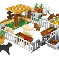 Model building kits compatible with lego city  happy farm 244 3D blocks Educational model building toys hobbies for children