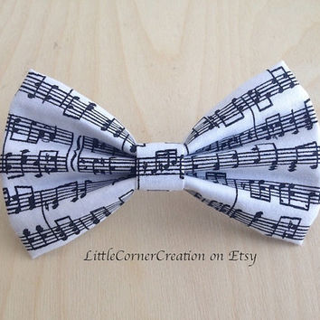 Musical Notes Adjustable Strap Bow Tie,Mens Bow Tie,Boys Bow Tie,Girls Hair Bow,Wedding Bow Tie,Geek Bow Tie,Nerd Hair Bow,Bow Ties Are Cool