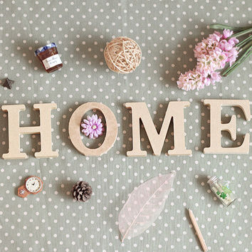 Wooden Furnishings English Alphabet Props, Creative DIY Decoration, House Warming