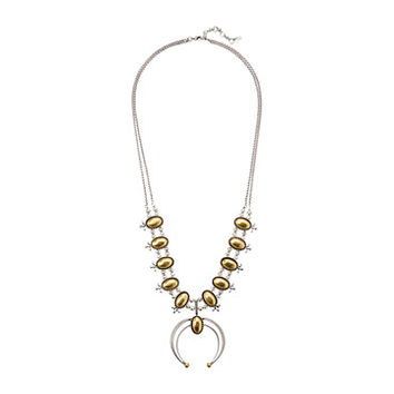 Lucky Brand Squash Blossom Statement Necklace
