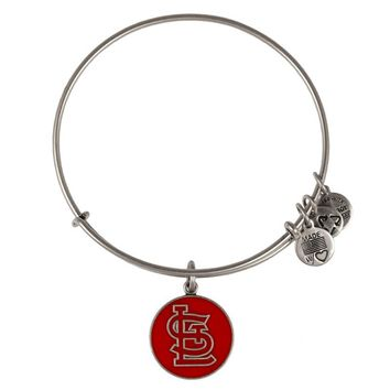 Alex and Ani Red St. Louis Cardinals™ Cap Logo Charm Bangle - Russian Silver