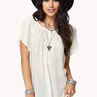Embroidered Peasant Top | FOREVER 21 - 2000051279