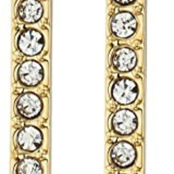 Rebecca Minkoff Pave Bar Gold Drop Earrings