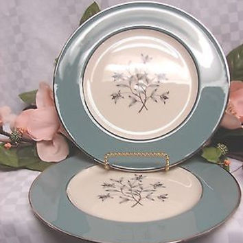 Lenox Ivory China Dinnerware Kingsley Pattern  X445 set 2 salad plate