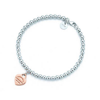 Tiffany & Co. - Return to Tiffany™ bead bracelet in silver and RUBEDO® metal, medium.