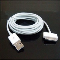 USB Data Sync Charger Cable Compatible with Ipad 2 Iphone 4 4s 5 Ipod Touch (3 meter)