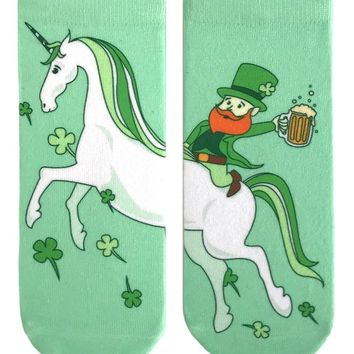 Leprechaun Unicorn Ankle Socks