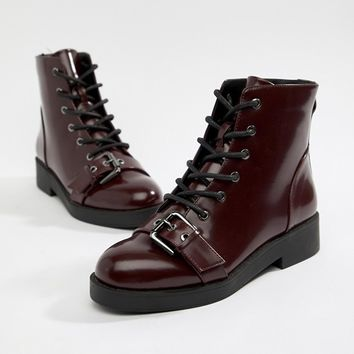 ASOS DESIGN Acoustic Chunky Biker Boots at asos.com