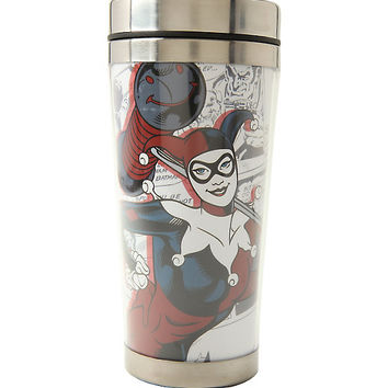 DC Comics Harley Quinn Travel Mug
