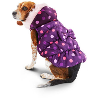 Smoochie Pooch Purple & Pink Polka Dot Dog Jacket