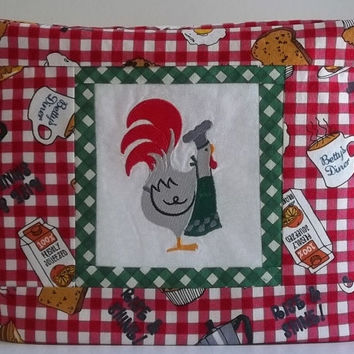 Toaster Cover 2 - slice Chef Rooster