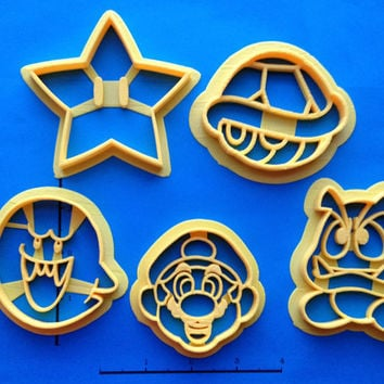Super Mario Super Set of Cookie Cutters