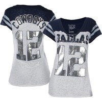 Dallas Cowboys Merchandising Women's Dallas Cowboys Burnout Jersey T-Shirt - Dick's Sporting Goods
