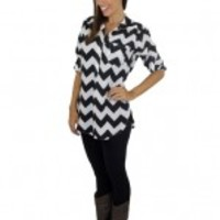 Black and White Chevron Shirt