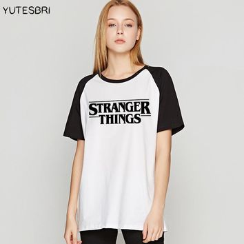 Brand Clothing Summer Stranger things letters top women vogue best friends t shirt punk Cotton T-shirt Female harajuku tees