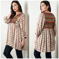 Printed Curvy Tunic Boutique Dress