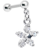 Clear CZ Star Dangle Cartilage Tragus Earring | Body Candy Body Jewelry