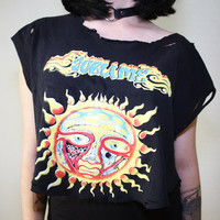 Vintage 90s Black Sublime Band Tee Tshirt Grunge by MirrorsVintage