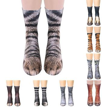 Animal paw crew socks Sublimated Print
