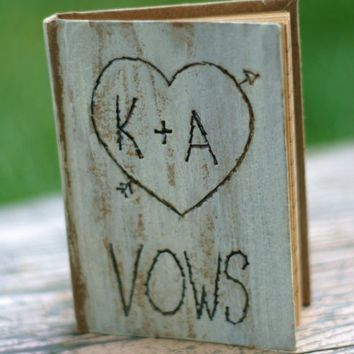 Wedding Vows Personalized Little Rustic Notebook