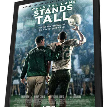 When the Game Stands Tall 11x17 Framed Movie Poster (2014)