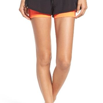 Zella Zippy Double Layer Performance Shorts | Nordstrom