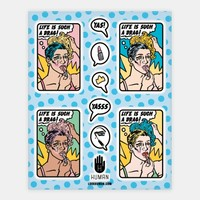 Life Is Such A Drag Sticker Sheet