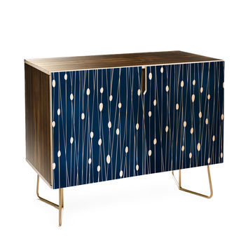 Heather Dutton Navy Entangled Credenza
