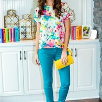 EVERLY:Tropical Oasis Blouse