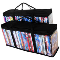 Evelots® 2 Portable DVD Blue-Ray Media Storage Case Bags,Holds 72 Total, 36 Each