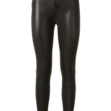 UNRAVEL STRETCH LEATHER PANTS